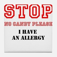 Allergy Warning Tile Coaster