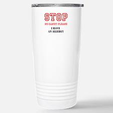 Allergy Warning Travel Mug