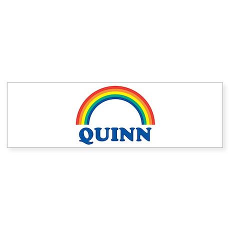 QUINN (rainbow) Bumper Sticker