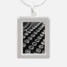 Keys2 Silver Portrait Necklace