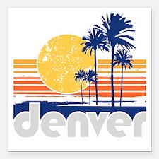 "Denver Square Car Magnet 3"" x 3"""