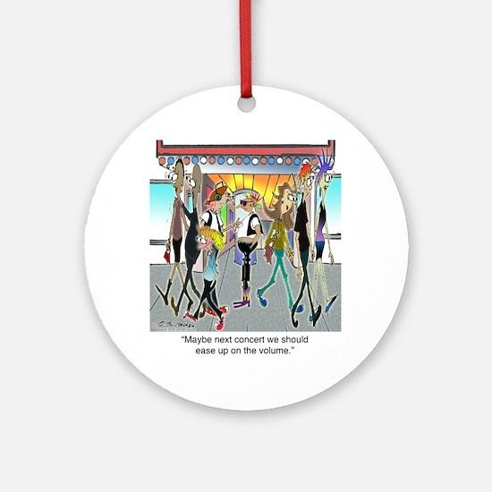 7842_concert_cartoon Round Ornament