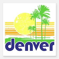 "Denver-2 Square Car Magnet 3"" x 3"""