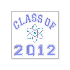 "CO2012 Atom Lt Blue Square Sticker 3"" x 3"""