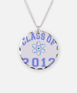 CO2012 Atom Lt Blue Necklace Circle Charm