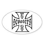 West Coast Scooters Oval Sticker
