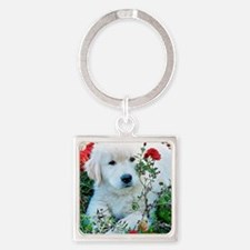 Golden Retriever Puppy Gift iPad H Square Keychain