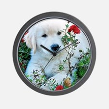 Golden Retriever Puppy Gift iPad Hard C Wall Clock