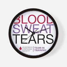blood.sweat_purp Wall Clock