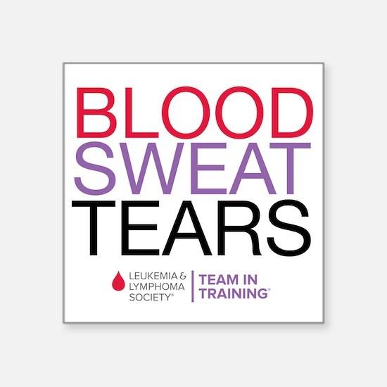 "blood.sweat_purp Square Sticker 3"" x 3"""