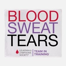 blood.sweat_purp Throw Blanket