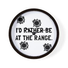 Gun Range Wall Clock