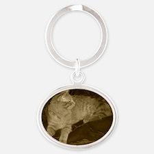 Elegant Prf-Sepia-M Oval Keychain