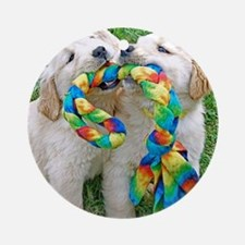 Golden Retriever Puppy Gift iPad Ha Round Ornament