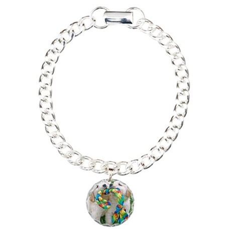 Golden Retriever Puppy G Charm Bracelet, One Charm