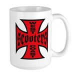 West Scooters Scooters Large Mug