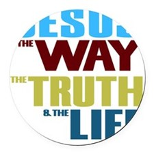 Jesus The Way The Truth & The Round Car Magnet
