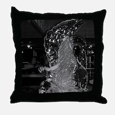 Ice Swan-BW-M Throw Pillow