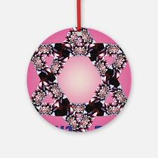 flower_star_pink_bg_effect1_shanato Round Ornament