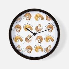 pangolin flipflop rolly text2 Wall Clock