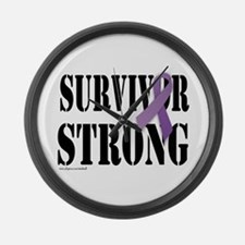 survivor strongpurple Large Wall Clock