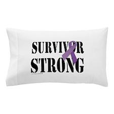 survivor strongpurple Pillow Case