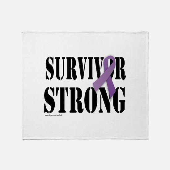 survivor strongpurple Throw Blanket
