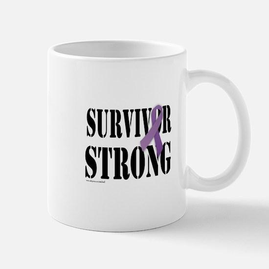 survivor strongpurple Mugs