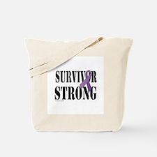 survivor strongpurple Tote Bag