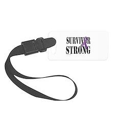 survivor strongpurple Luggage Tag