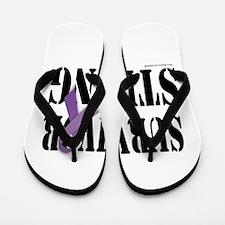 survivor strongpurple Flip Flops