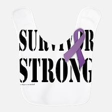 survivor strongpurple Bib
