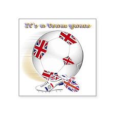 "team game british kids 2 Square Sticker 3"" x 3"""
