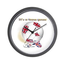 team game british kids 2 Wall Clock