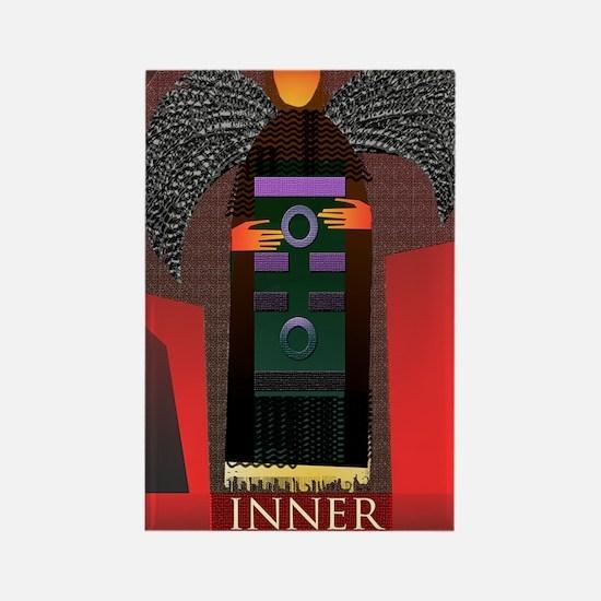 61 inner truth angel Rectangle Magnet