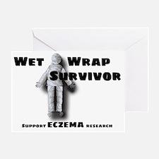 wet-wrap-black Greeting Card