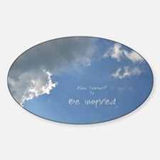 Be Inspired Sticker (Oval)