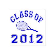 "CO2012 Tennis Navy Square Sticker 3"" x 3"""