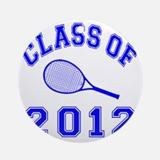 CO2012 Tennis Navy Round Ornament