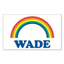WADE (rainbow) Rectangle Decal