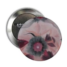 "Large Pink Flowers 2.25"" Button"