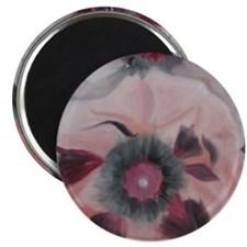 Large Pink Flowers Magnet