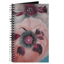 Large Pink Flowers Journal