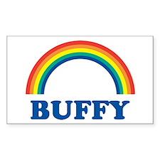BUFFY (rainbow) Rectangle Decal