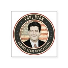 "aug11_paul_ryan_tpc Square Sticker 3"" x 3"""