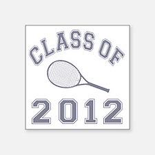 """CO2012 Tennis Gray Square Sticker 3"""" x 3"""""""