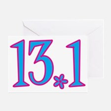 13.1 with flower Greeting Card