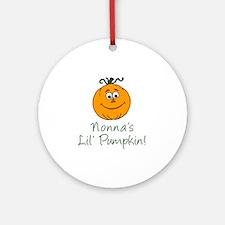 Nonnas Little Pumpkin Round Ornament