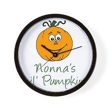 Nonnas Little Pumpkin Wall Clock