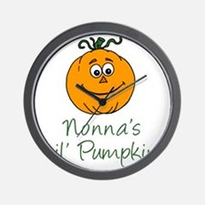 Nonnas Little Pumpkin Wall Clock